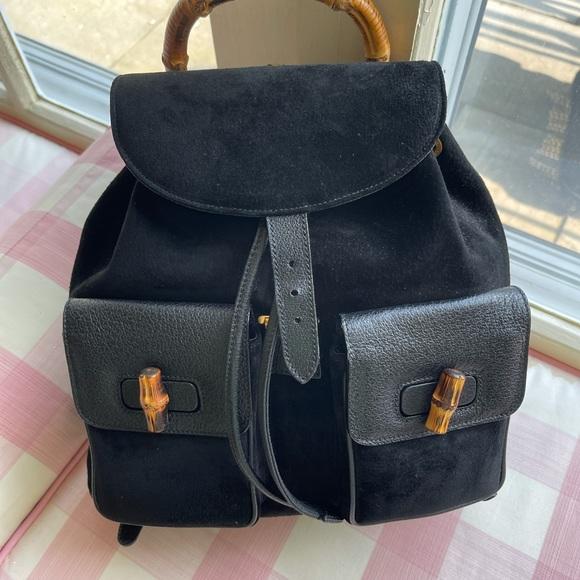 Never worn vintage Gucci suede backpack